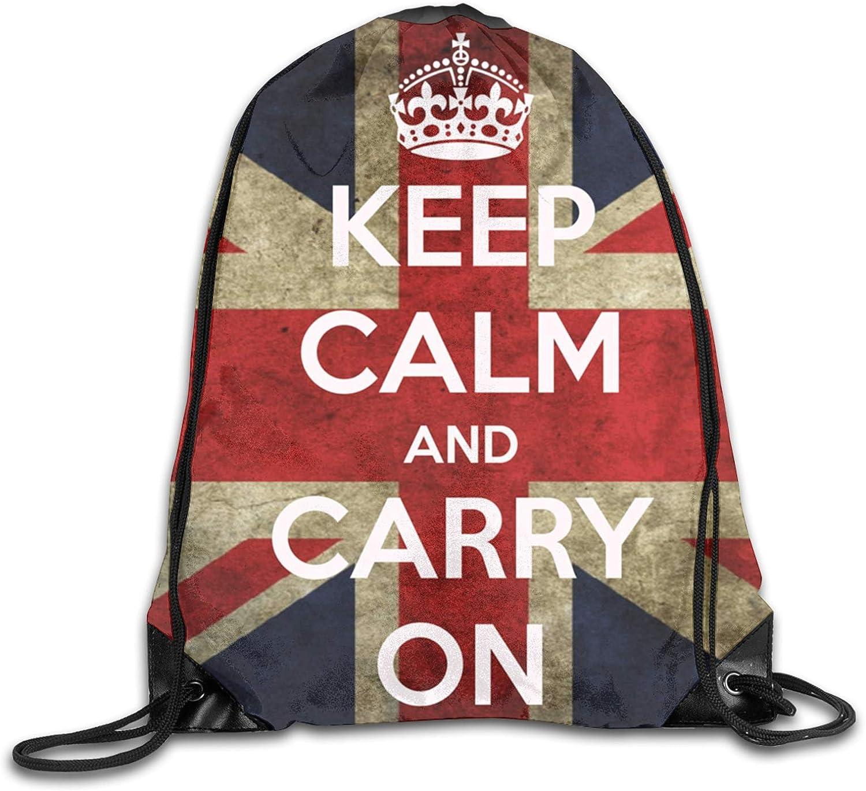DPQZ Drawstring Backpack Sports Gym Bag British C Calm Flag Ranking Cheap SALE Start integrated 1st place Keep