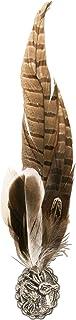 Alpenflüstern Broche de plumas de faisán, diseño de ciervo, API04500035, color marrón