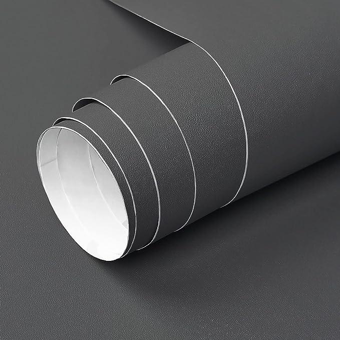 14 opiniones para YXHZVON Vinilo Adhesivo Muebles Negro Mate, 40 x 500 cm Vinilo Negro Mate