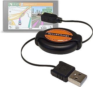 DURAGADGET Cable Mini USB Retráctil para Garmin DriveSmart 50 EU LMT-D, Garmin DriveSmart 70 EU LMT-D - Ideal para Conecta...