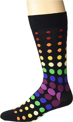 Pride Faded Disco Dot Sock