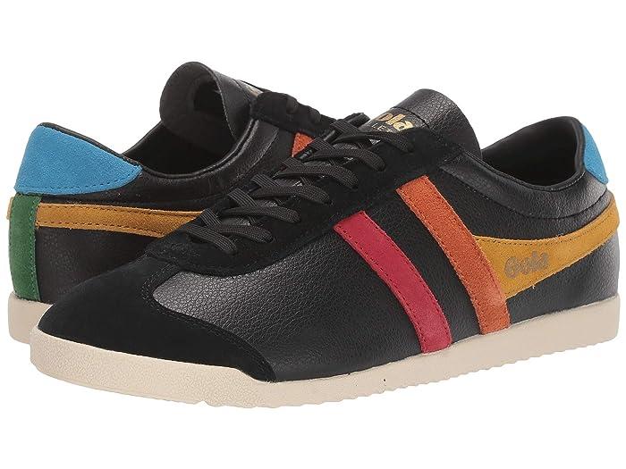 Retro Sneakers, Vintage Tennis Shoes Gola Bullet Trident BlackMulti Womens Shoes $76.50 AT vintagedancer.com