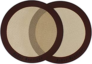 "Silicone Baking Mat Set of 2 (9"" Round) Non Stick Reusable Multipurpose Pastry Mat"