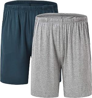 Sponsored Ad - MoFiz Men's Pajama Shorts Soft Sleep Bottoms Lightweight Lounge Shorts with Pockets