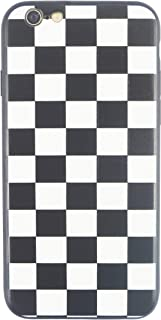 Checkered Phone Case for iPhone (Black and White Checkered, XR / 9)