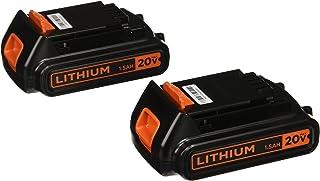 Black & Decker LBXR20B-2 20V MAX Batería de litio, Pack de 2 unidades