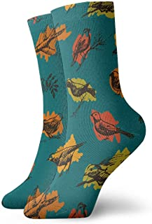 Vintage Swallow,pigeon,robin Pattern Socks Colorful Cool Sport Travels Calcetines For Men Women