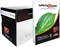 2500 Blatt Marken Kopierpapier Versando high white 80 DIN A4 80g/qm weiss Druckerpapier Papier Fax Laserpapier...