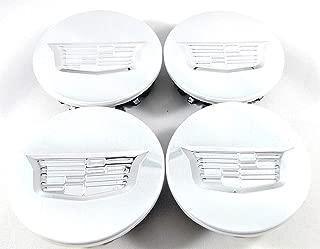 YOJOHUA 2.56 Inch Wheel Center Hub Caps for Cadillac, 65mm Chrome Center Cap Emblem for ATS CTS DTS SRX XTS XLR Wheels 4PCS (Silver)