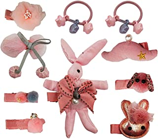 Dimple baby girls gift set hair accessories set hair clip + hair ties