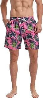 Dovava Men's Swim Short Trunks with Mesh Lining Quick Dry Swimwear Drawstring Boardshorts Above Knee with Pockets