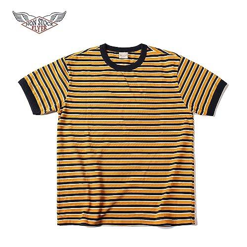 84db4ed8f2e1cc Non Stock Men's Striped Short Sleeve Sea Shirt T-Shirt