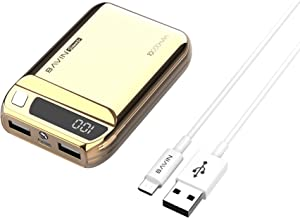 Power Bank 10000 mAh,BAVIN Fast Charging External Battery Pack Dual USB Output with LED Flashlight Compatible for iPhone, iPad, iPod,Samsung Galaxy and Other Charging Device (Rose Gold 10000mah)