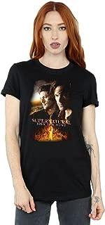 Women's Flaming Poster Boyfriend Fit T-Shirt