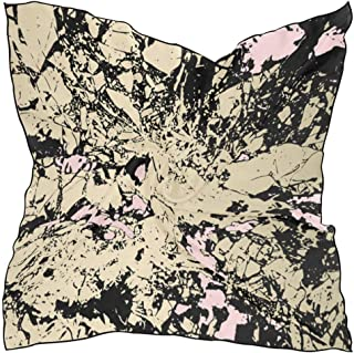 Square Scarf Abstract Gold Pattina Effect Soft Breathable Neck Scarf Neckerchief Digital Printed Headscarf Headband