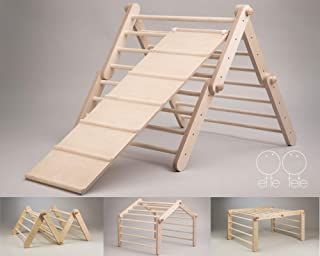 wooden climbing triangle