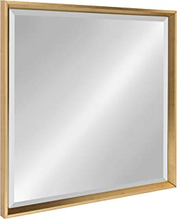 Kate and Laurel Calter Framed Wall Mirror 28x28 Gold