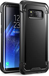 SupCase Samsung Galaxy S8+ Plus Case, Unicorn Beetle Series Premium Hybrid Protective Frost Clear Case for Samsung Galaxy S8+ Plus 2017 Release, Retail Package (Black/Black)