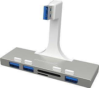Sabrent Hub USB 3.0 de 3 Puertos con Lector de Tarjetas Multi-en-1 para iMac Slim Unibody 2012 o Posterior (HB-IMCR)