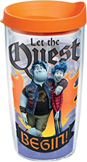Tervis Disney - Onward Quest Insulated Tumbler with Wrap and Orange Lid, 16oz, Clear
