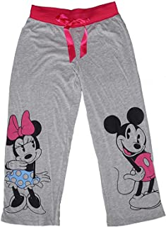 Disney Classic Mickey and Minnie Mouse Pajama Pants - Grey/Pink