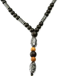 Collar real bizantino de 6 mm longitudes de collar de acero inoxidable 56 61 76 cm 66