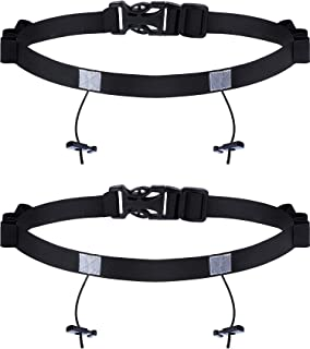 Jovitec 2 Pieces Race Number Belt with 6 Gel Loops for Running Cycling Triathlon Marathon