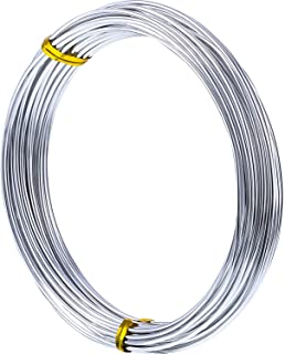 1MM Thickness Silver Aluminum Wire, Bendable Metal Craft Wire Beading Wire for Making Dolls Skeleton DIY Crafts (33 Feet)