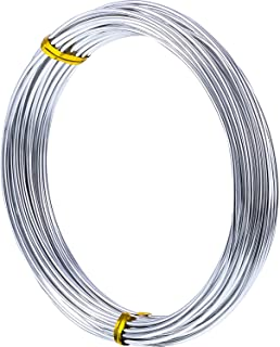 32.8 Feet Copper Aluminum Wire, Bendable Metal Craft Wire for Making Dolls Skeleton DIY Crafts (Silver, 1.5 mm Thickness)