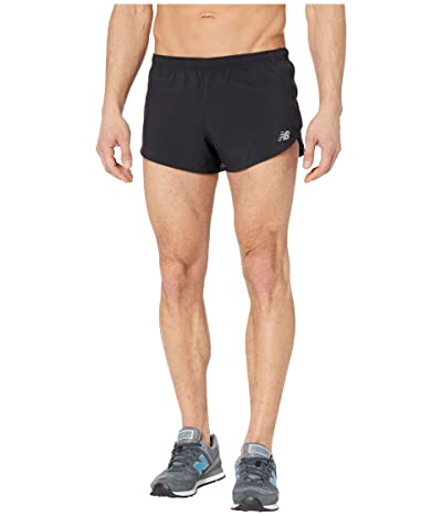 New Balance Impact Run 3-Inch Split Shorts (Black) Men