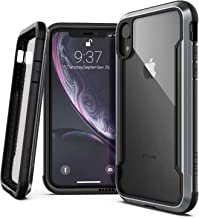 X-Doria Defense Shield, iPhone XR Case - Military Grade Drop Tested, Anodized Aluminum, TPU, and Polycarbonate Protective Case for Apple iPhone XR, 6.1 Inch LCD Screen (Black)