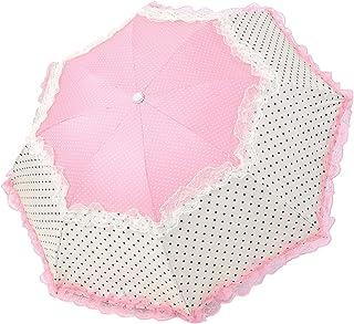 Honeystore Triple Folding Princess Lace Beach Umbrella UV Protection Sun Parasol Watermelon