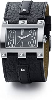 Bruno Banani Men's Watch ET3.101.301 with Black Dial and Leather Cuff Strap