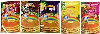 Hawaiian Sun 5 Pack Assorted Pancake Mix: Chocolate Mac, Passion Fruit, Banana Mac Nut, Coconut Pineapple, Strawberry Guava