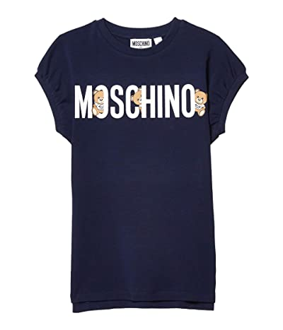 Moschino Kids Hiding Bears Dress (Big Kids) (Navy) Girl