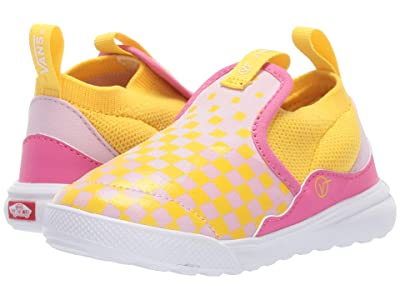 Vans Kids Xtremeranger (Infant/Toddler) ((Checkerboard) Lilac Snow/Vibrant Yellow) Girl