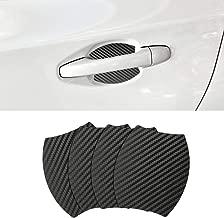 Door Handle Trim Magnetic Door Cup Paint Scratch Protector Cover Accessories for Subaru Outback (4 Pcs)