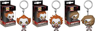 It Pennywise with Wig, with Balloon, And Spider Legs Pocket Pop! Keychains