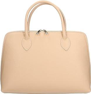 Aren - Handbag Borsa a Mano da Donna in Vera Pelle Made in italy - 37x27x12 Cm