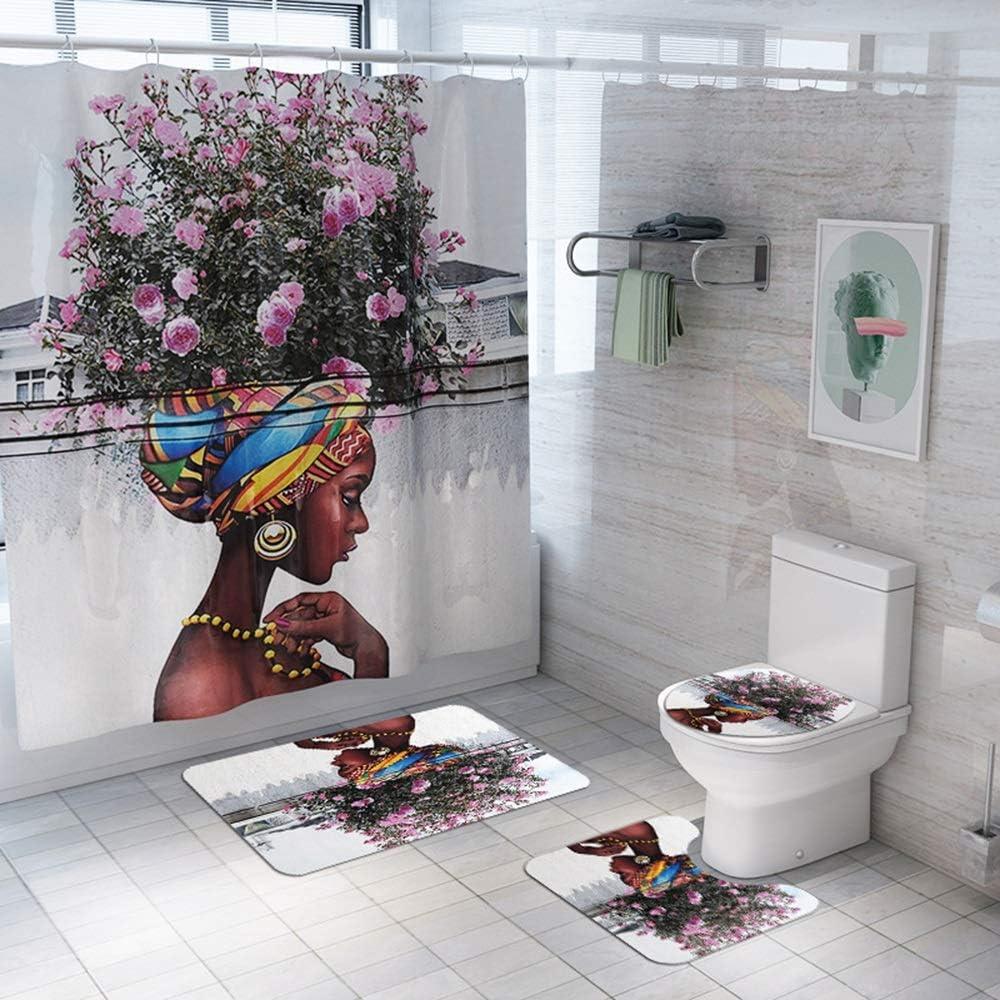Max 78% OFF Raxinbang Non Slip mat Color Tree San Antonio Mall Woman Pattern Curtain F Shower