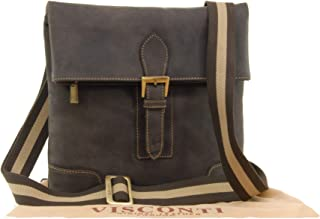 Visconti Midi Messenger Bag A5 - Hunter Leather -Flap Over/iPad/Kindle/Push Lock/Shoulder/Cross Body/Work Bag/Leisure - 16058 - Oil Brown