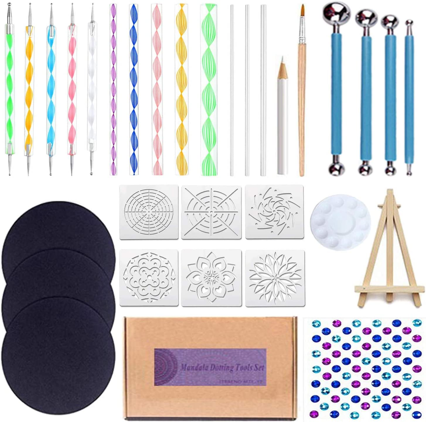 EWONICE Professional Mandala Dotting Tools 3 with Limited price sale excellence Cardboards Set