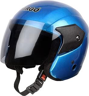 Virgo Open Face ARU Color Blue Glossy finish visor Tinted