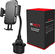 IOVECT Car Cup Holder Phone Mount with Long Flexible Neck for iPhone Xs Max/XS/x/8/7/6 Samsung Galaxy S6/S7/S8/Note8/Note9/s9