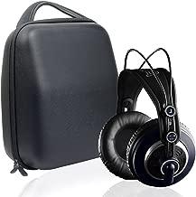 Protective Headphones Case for Sennheiser HD800, HD598; AKG K701, Q701; Beyerdynamic DT880, DT990, DT770, Audio-Technica ATH-M50x, ATH-M50, M70X, M40x, M30x, M20x, M50xMG; Removable Accessories Pouch