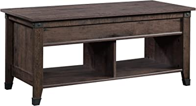 Sauder Carson Forge Lift-Top Coffee Table, Coffee Oak finish
