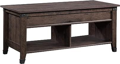 Sauder Carson Forge Lift-Top Table, Coffee Oak finish
