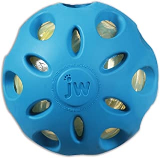 JW Pet Company Crackle Heads Crackle Ball Dog Toy, 2 Pack