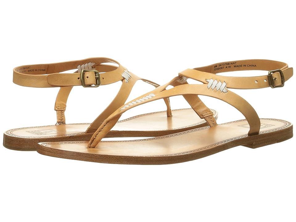 Frye Ruth Whipstitch Sandal (Natural Smooth Full Grain) Women