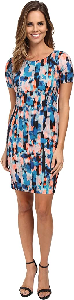 Abby Vivid Pillar Shift Dress
